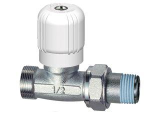 Far valvola manuale cromata dritta per tubazione in rame/multistrato