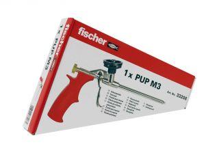 Fischer PUPM 3 pistola in metallo per schiuma poliuretanica con 2 prolunghe