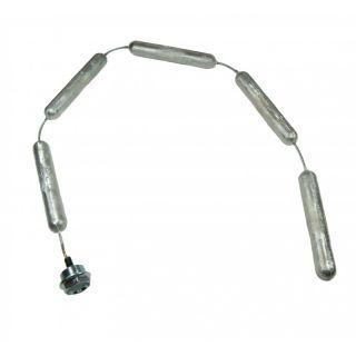 Cordivari anodo di magnesio a catena M8 - 32x200 mm