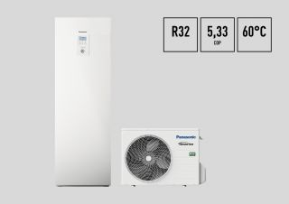 Panasonic Aquarea pompa di calore All in One J Monofase R32 5 kW