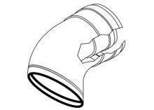 Rinnai kit 2 curve 45° coassiali 80/125 per scaldabagni a condensazione