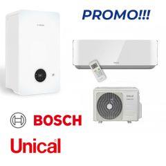 Bosch Condens 2200 24/25 kW + Unical climatizzatore monosplit 12000