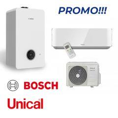 Bosch Condens 2300 24/25 kW + Unical climatizzatore monosplit 12000