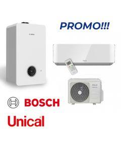 Bosch Condens 2300 24/30 kW + Unical climatizzatore monosplit 12000