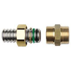 Eurotis raccordo in ottone ad innesto rapido doppio o-ring con filettatura parallela maschio per acqua/solare