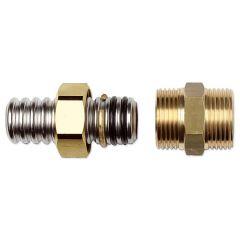 Eurotis raccordo in ottone ad innesto rapido doppio o-ring con filettatura parallela maschio per gas